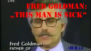 O. J. Simpson Trial Fred Goldman Press Conference after closing argument of Johnnie Cochran