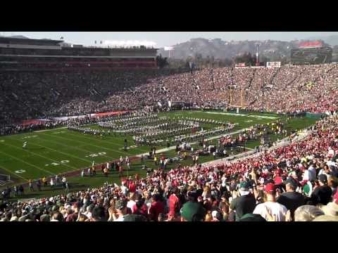 Michigan State University Spartan Marching Band 100th Rose Bowl pre-game entrance