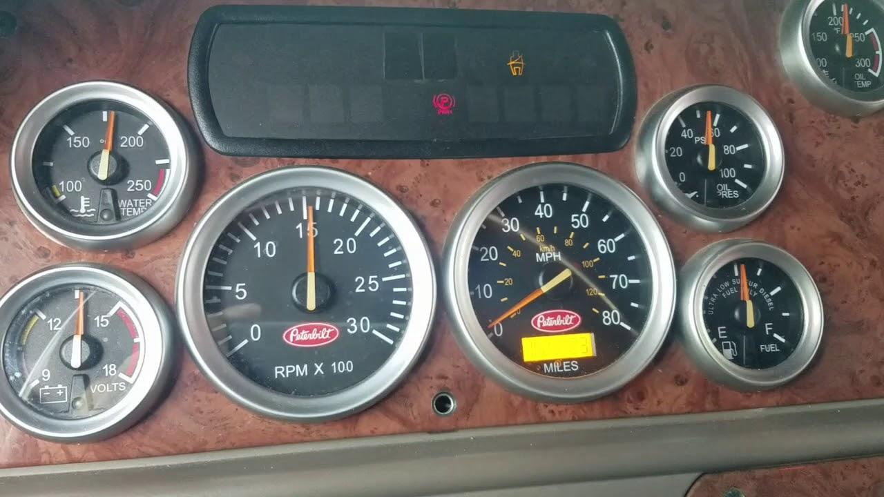 Peterbilt 387 gauges, no start