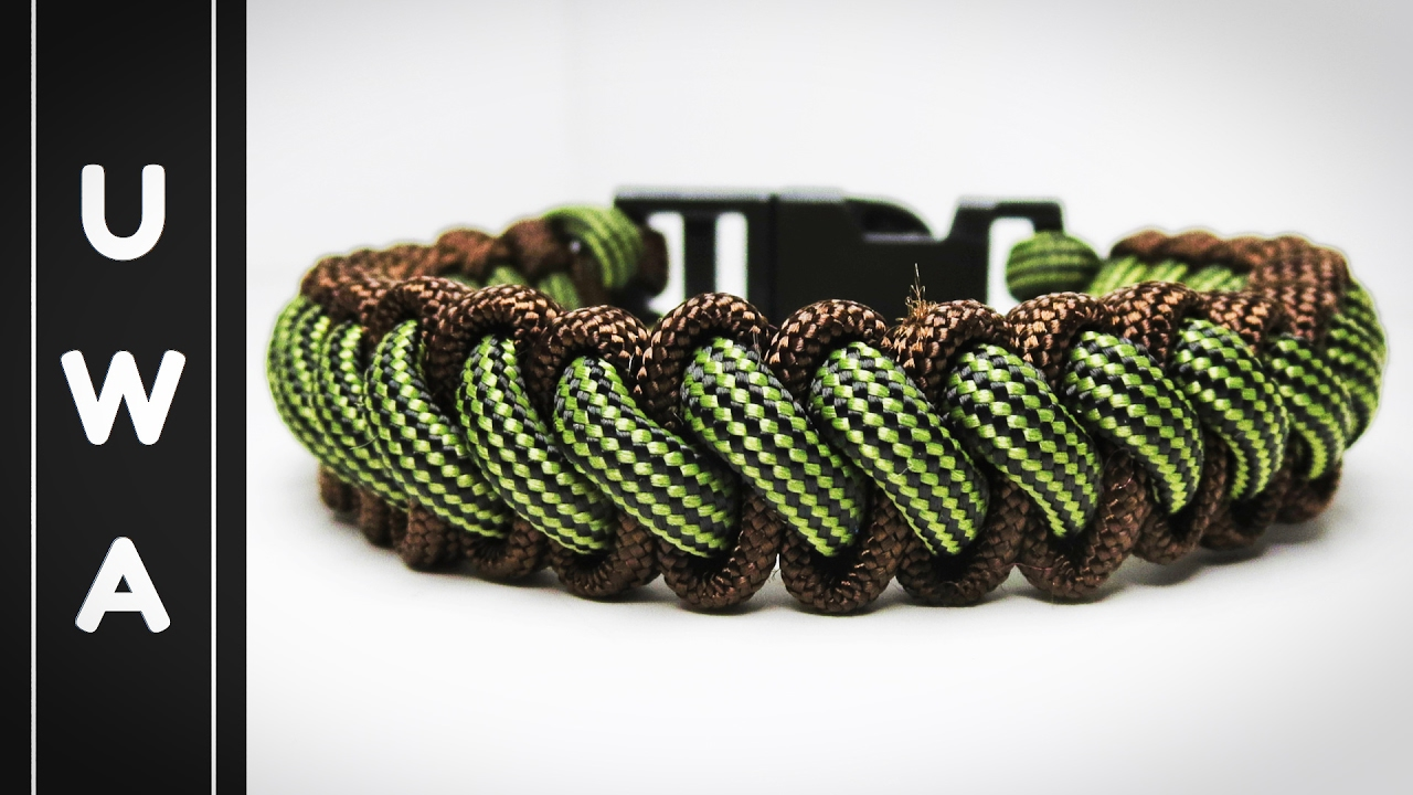 How To Make The Bootlace Paracord Survival Bracelet With Buckle Curling Millipede Tutorial You