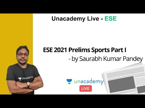 Download ESE 2021 Prelims | Sports Part I | GS | Saurabh Kumar Pandey
