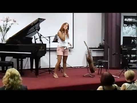 NEW SINGER VERY PROMISING  DURING THE FINAL YEAR  OF GEROLEMOU MUSIC SCHOOL AT LARNACA