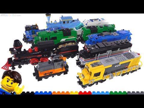 My LEGO custom Train Locomotive MOC collection! (2019)