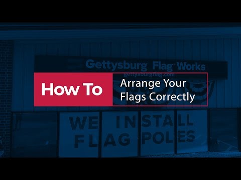 How To Arrange The US Flag With Other Flags In An Indoor Setting