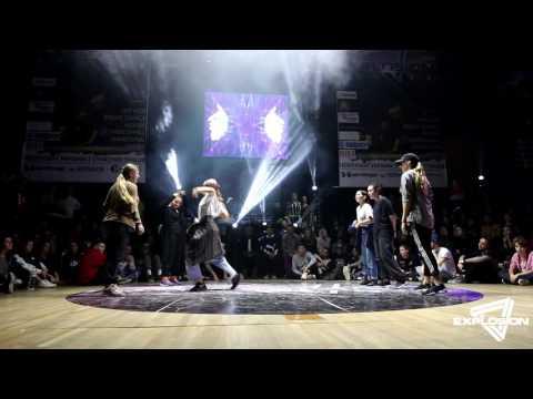 Kristina, Lorena, Ghost Ponka vs Violetta, Mary, Dasha - Final Hip Hop 3vs3 | Explosion Battle 2016