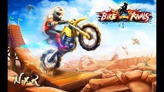 Bike Rivals - Bike Racing Game -Best Bike Stunts Video GamePlay Walkthrough 1080p // Levels 1-7