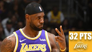 The los angeles lakers earn their first victory of 2019-20 nba regular season against utah jazz, 95-86, as lebron james flirts with a triple-double b...
