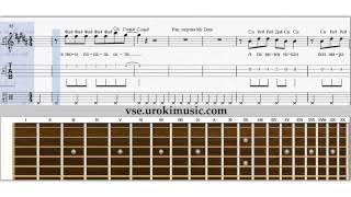Обучение гитаре онлайн видео - Как играть на гитаре песню Mc Doni Натали - Ты Такой ноты для гитары