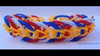 Rainbow loom Triple Link chain armband (Nederlands)