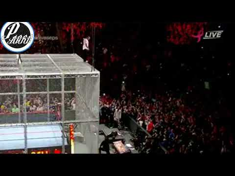 Shane McMahon Salta de la Celda Infernal! Hell In A Cell 8-10-17