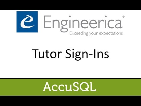 Tutor Sign-Ins - Accu2016 Video Learning
