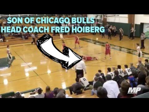 Son of Chicago Bulls coach Fred Hoiberg gets put on skates