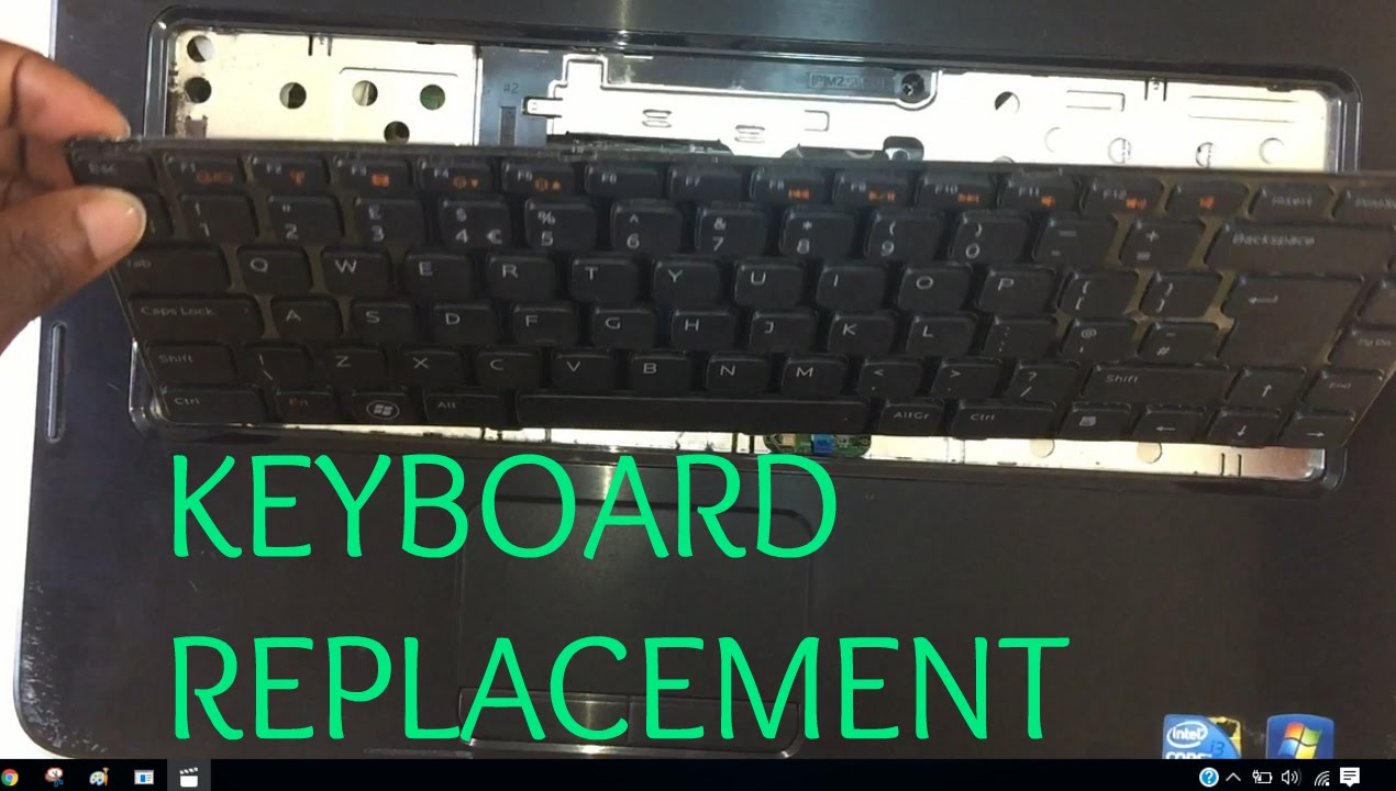 Dell Vostro 1540 Laptop Keyboard Replacement Guide Youtube