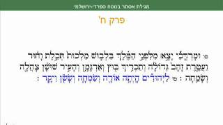 Megillah of Esther Sefaradi Yerushalmi Purim Sepharadic Chapter 8 Summary