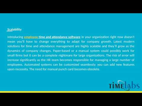 Benefits Of Employee Time And Attendance Software