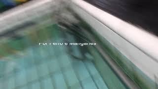 Manchas nas paredes e pisos por ferrugem na piscina