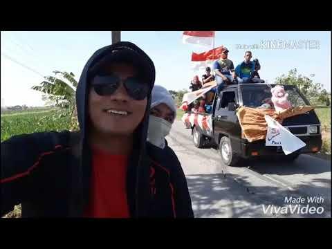 KIRAB BENDERA MERAH PUTIH HUT RI KE 73 TH DESA SLAHAR WOTAN, KEC. NGIMBANG(2)