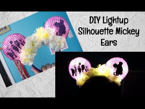 DIY Light-up Silhouette Mickey Ears-- HERCULES COLLAB