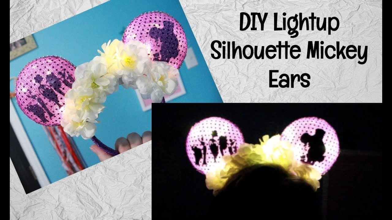 Diy Light Up Silhouette Mickey Ears Hercules Collab