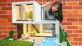 Bricklaying build mini house with Swimming Pool full - MCKook