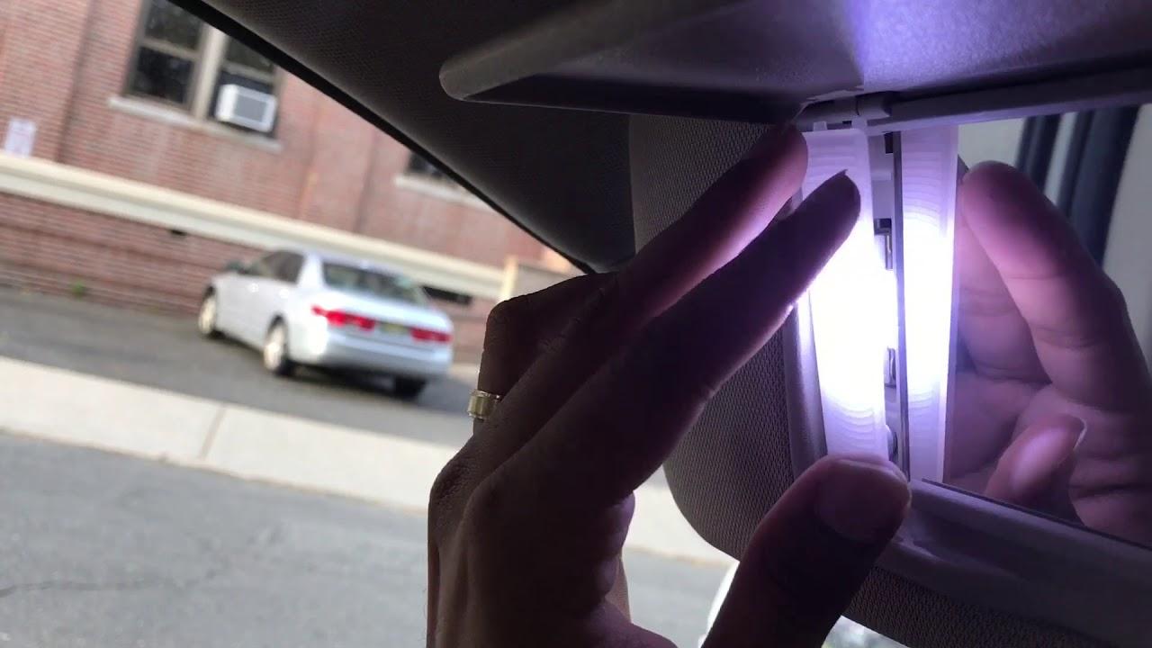 How To Change Led Vanity Mirror Lights In Sun Visor Youtube