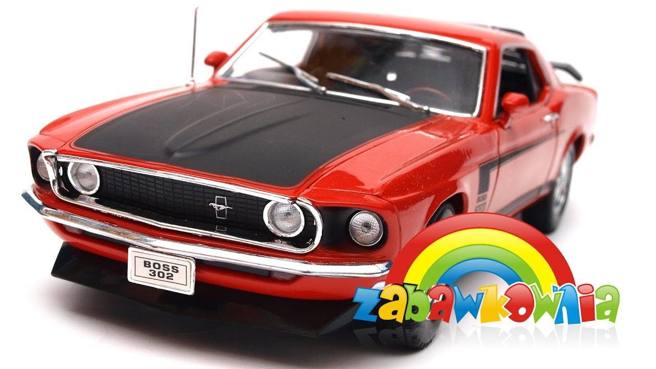 Ford mustang boss 302 1969 model welly 118 zabawkownia com pl