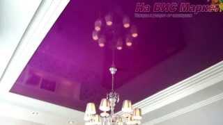 видео Глянцевые натяжные потолки
