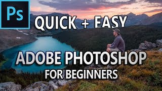 Adobe Photoshop Tutorial for Beginners in English [Subtitles] in 10 Minutes
