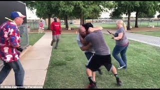 Coach fights parents from opposing youth baseball team