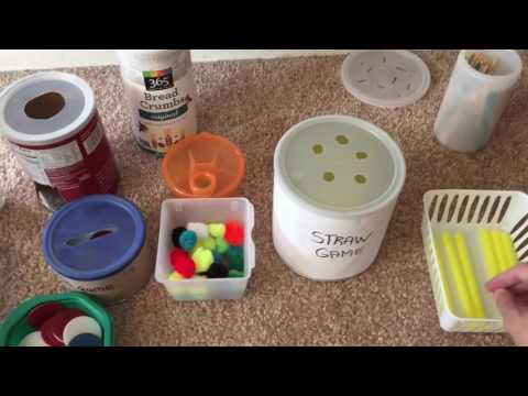 Homemade fine motor activities (8 months to 2 years) Do it yourself!