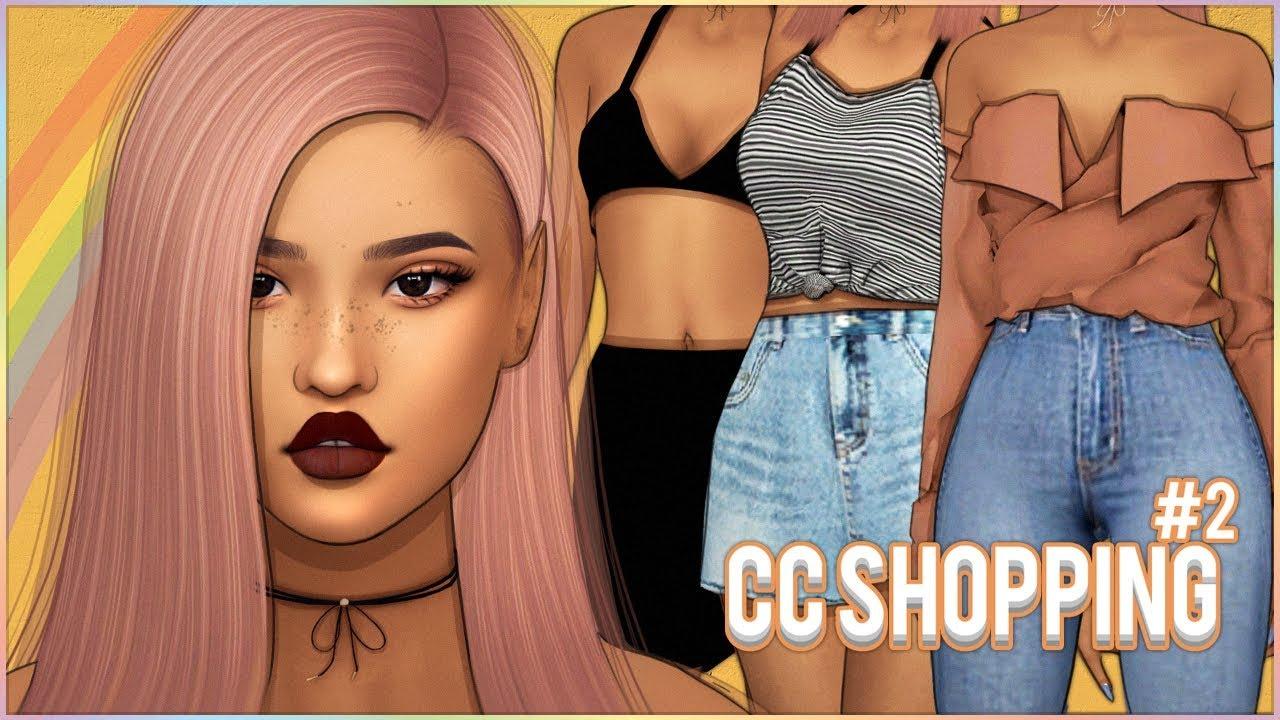 👠💄THE SIMS 4 ¦ CC SHOPPING #2 - Hair, Skins, Makeup, Clothing & More! +  Links!👠💄