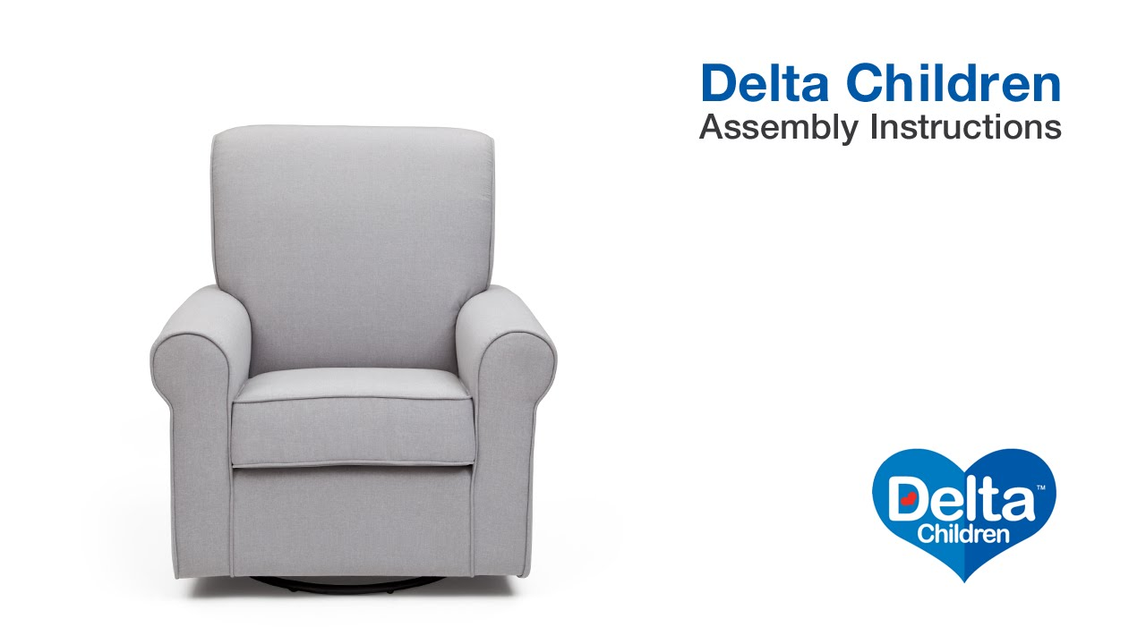 delta avery nursery glider chair grey best lift children assembly video youtube