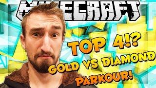 FREEZING POOL CHALLENGE - Minecraft TOP 4 GOLD VS DIAMOND PARKOUR Maps