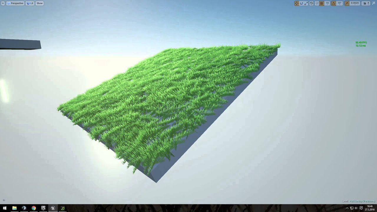 Unreal Engine 4 - Grass shader wind test