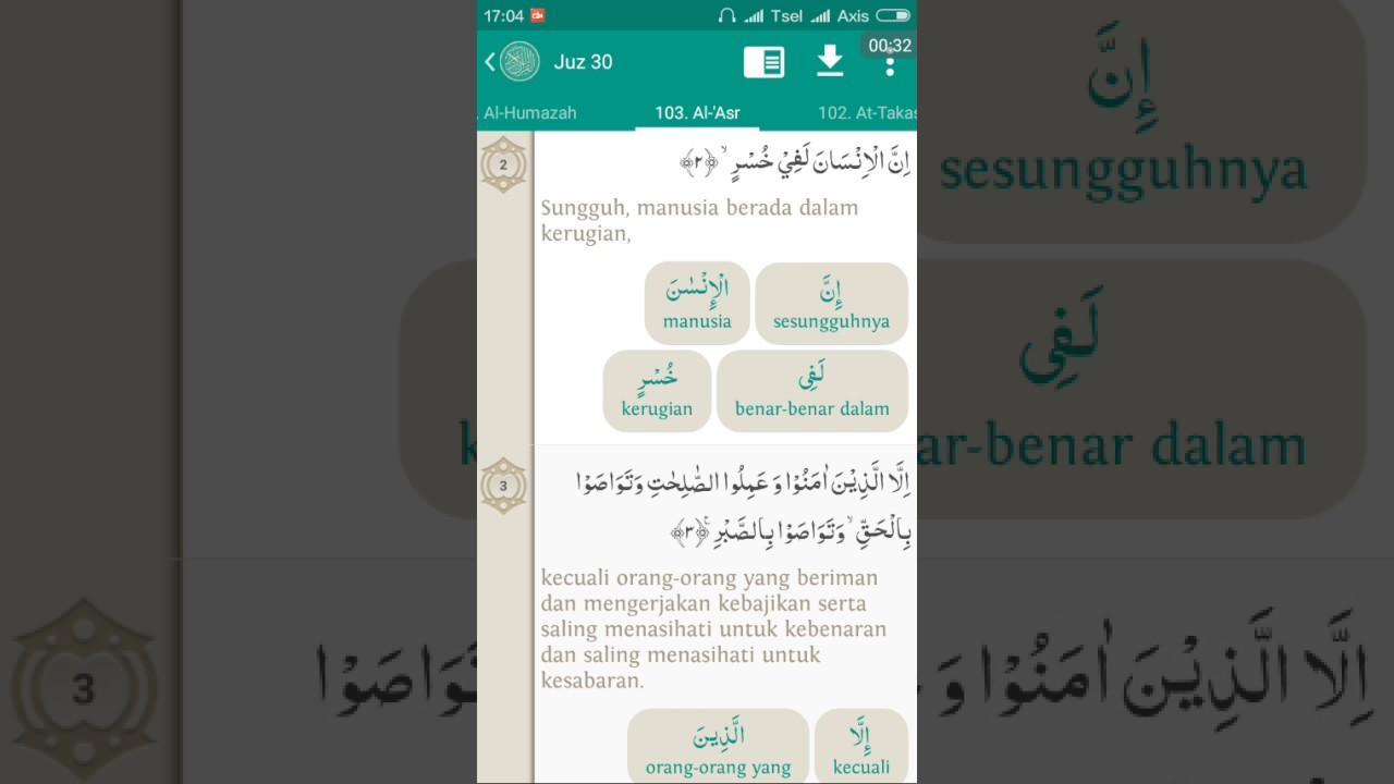 103surat Al Ashr Teks Terjemah Per Kata Audio Oleh Abi Zikri