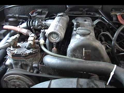 1972 Mercedes 220D - sound of OM615 diesel engine