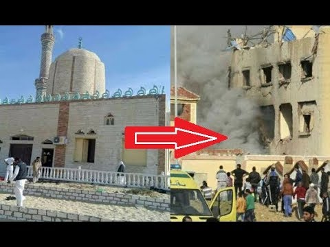 Watch the moment after explosion in the Cairo, Egypt bombing today after Jumma Prayer outside Mosque