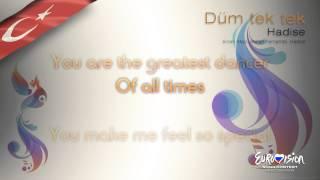 """Hadise - """"Düm Tek Tek"""" (Turkey) - [Karaoke version]"""