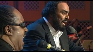 Luciano Pavarotti & Stevie Wonder - Peace Wanted Just To Be Free (1080pHD)