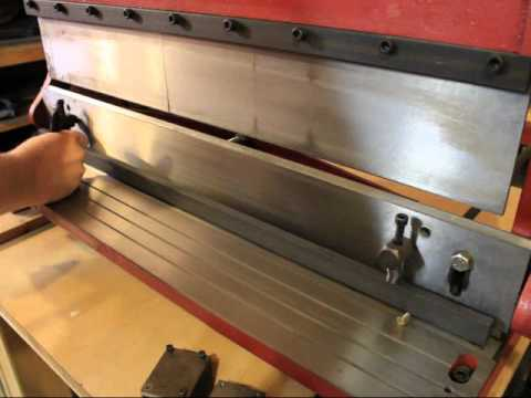 """The Green Energy Tool!  Harbour Freight 30"""" Shear, Press Brake and Slip Roll #5907"""