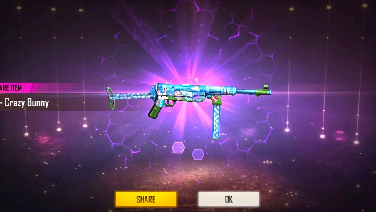 I Got Bunny MP40 in Two Spin😱Bunny Mp40 Free Fire Luckey Crate Opening - Garena FreeFire