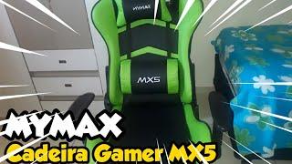 UNBOXING DA NOVA CADEIRA GAMER!!! - Cadeira Gamer mymax mx5 Giratoria Preto/Verde