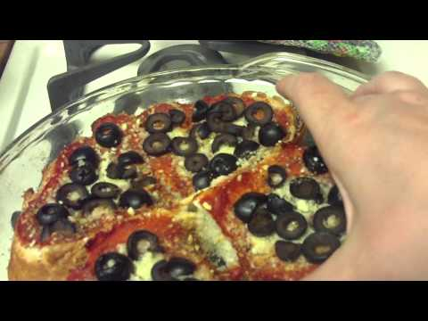 French Bread Pizza With Black Olives