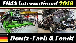 EIMA International 2018 - Deutz-Fahr & Fendt Tractors, Harvesters & More! - C9306 TSB, IDEAL 8T, etc