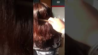 Indian girl nape shave with rezor