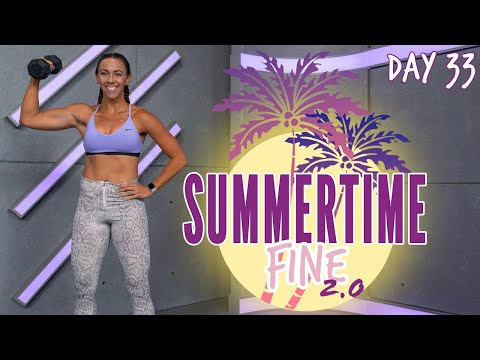 30 Minute Arms And Abs HIIT Workout | Summertime Fine 2.0 - Day 33