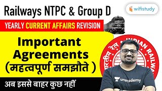 2 PM - RRB NTPC & Group D 2020 | Current Affairs by Ankit Avasthi | Important Agreements