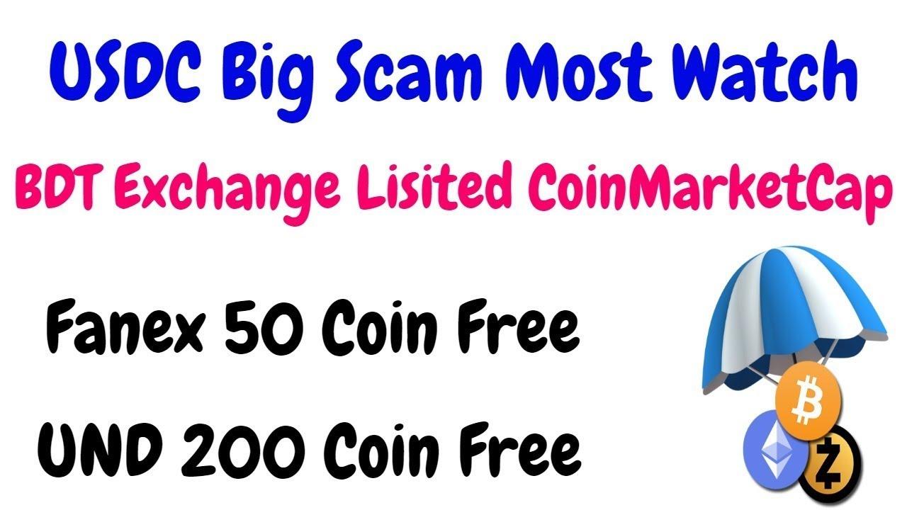 BDT Exchange Lisited CoinMarketCap | Fanex 50 Token Free & 200 UND Coin  Free | BestEarningTips