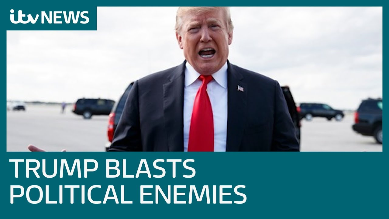 Donald Trump slams political enemies | ITV News