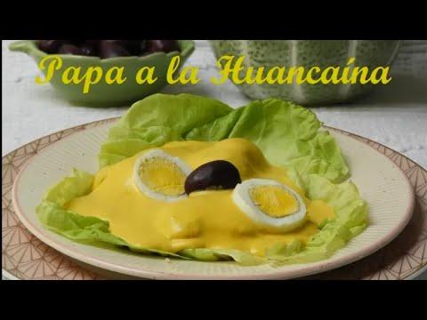 PAPA A LA HUANCAINA / RECETA PERUANA